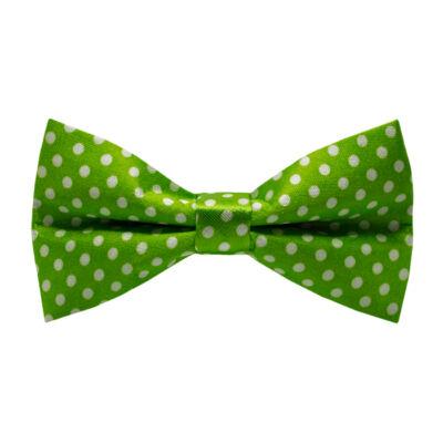 Fehér pöttyös, zöld csokornyakkendő