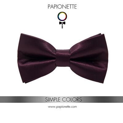 Francia szilva színű gyerek csokornyakkendő - fényes