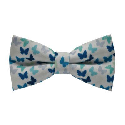 Kék pillangók mintás csokornyakkendő