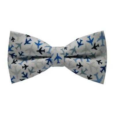 Kék repülők mintás csokornyakkendő