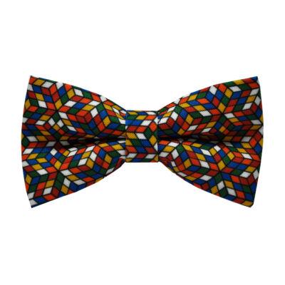Rubik kocka mintás csokornyakkendő
