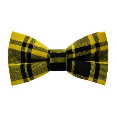 Sárga-fekete kockás csokornyakkendő
